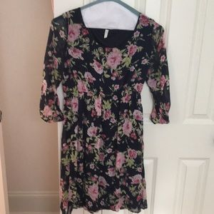Pinkblush navy floral maternity dress